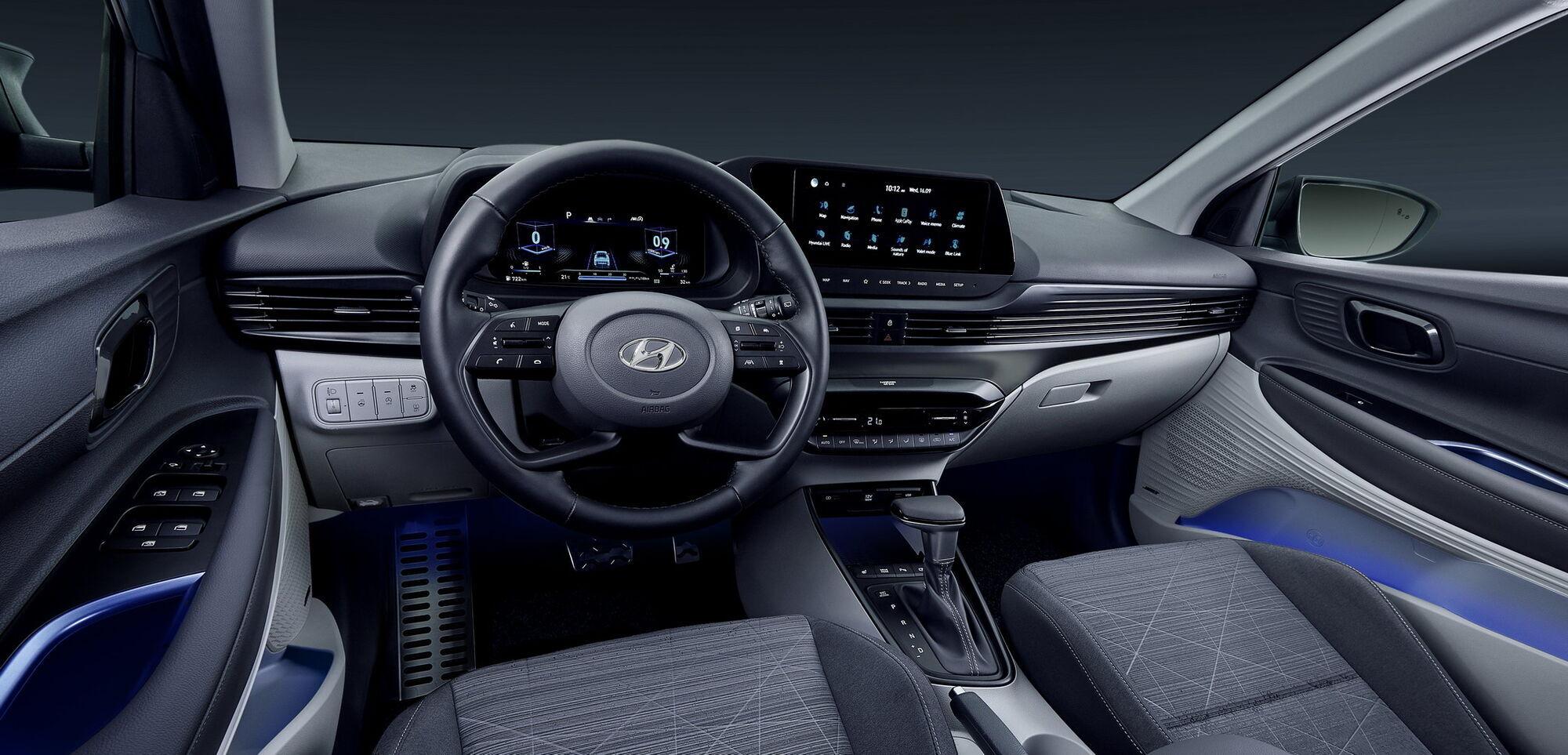 Салон компактного кроссовера Hyundai Bayon