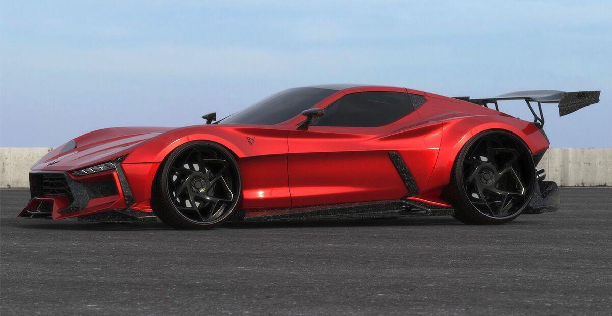 Body-kit ValarraVette радикально преображает облик серийного Corvette С6.