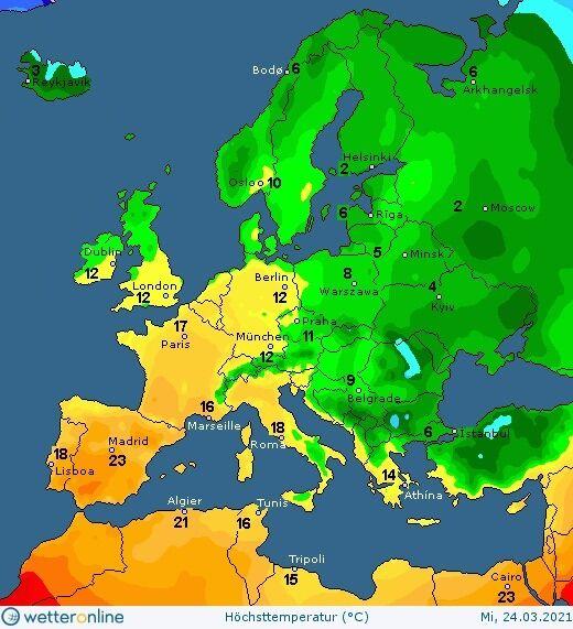В Западной Европе весеннее потепление начнется раньше, чем в Украине