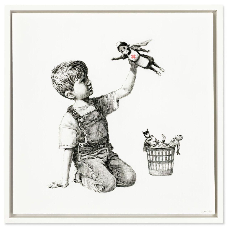 Картину британского художника Бэнкси продали на аукционе за 23 млн долларов