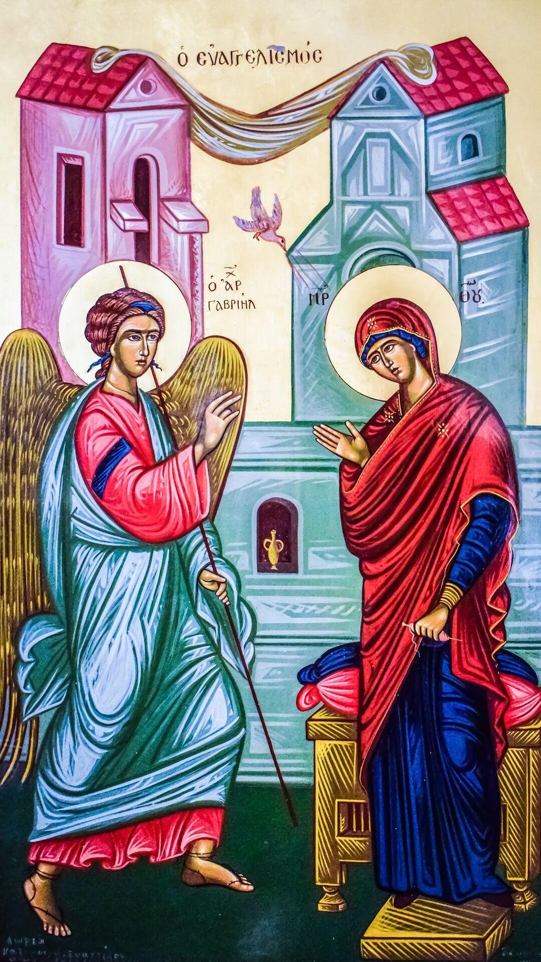 Марії явився Архангел Гавриїл, який приніс їй благу вість про те, що вона народить Ісуса Христа