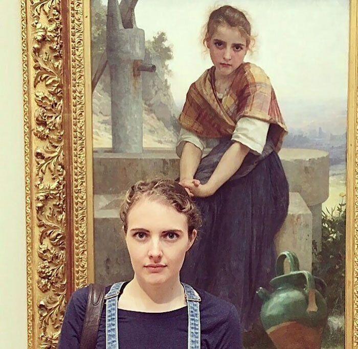 Лицом к лицу с собой в музее.