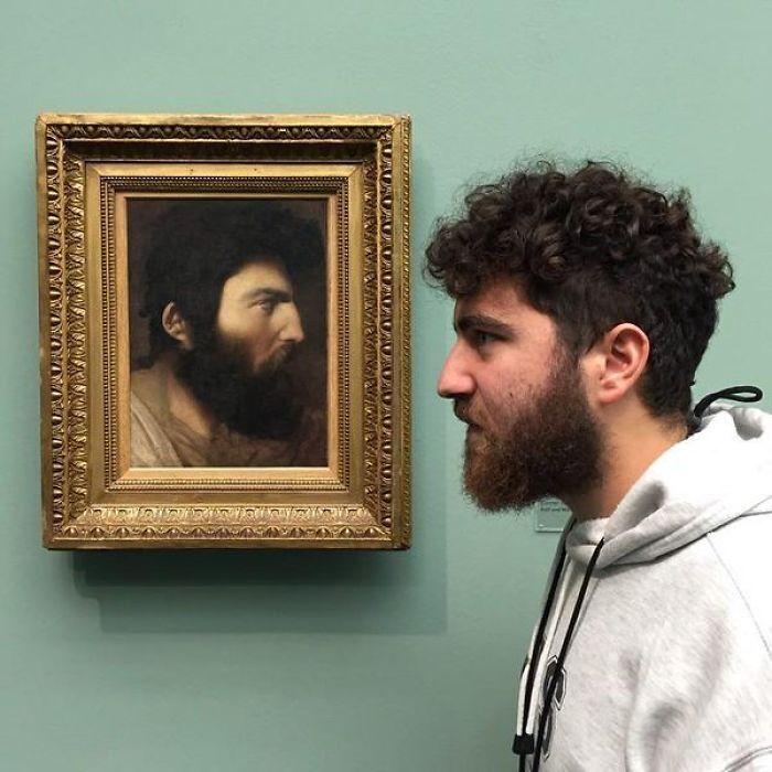 Нашел своего двойника в художественном музее в Цюрихе.