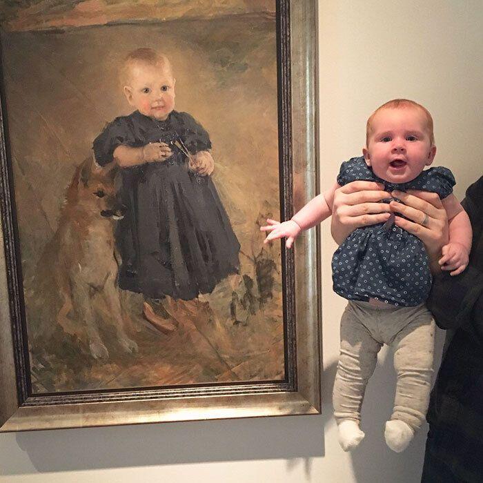 Родители нашли двойника ребенка в картинной галерее.