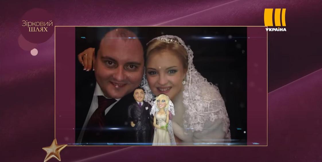 Юрий Ткач на свадьбе со своей возлюбленной Викторией