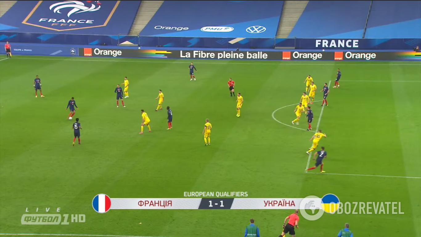 Офсайд во время голевой атаки Франции.