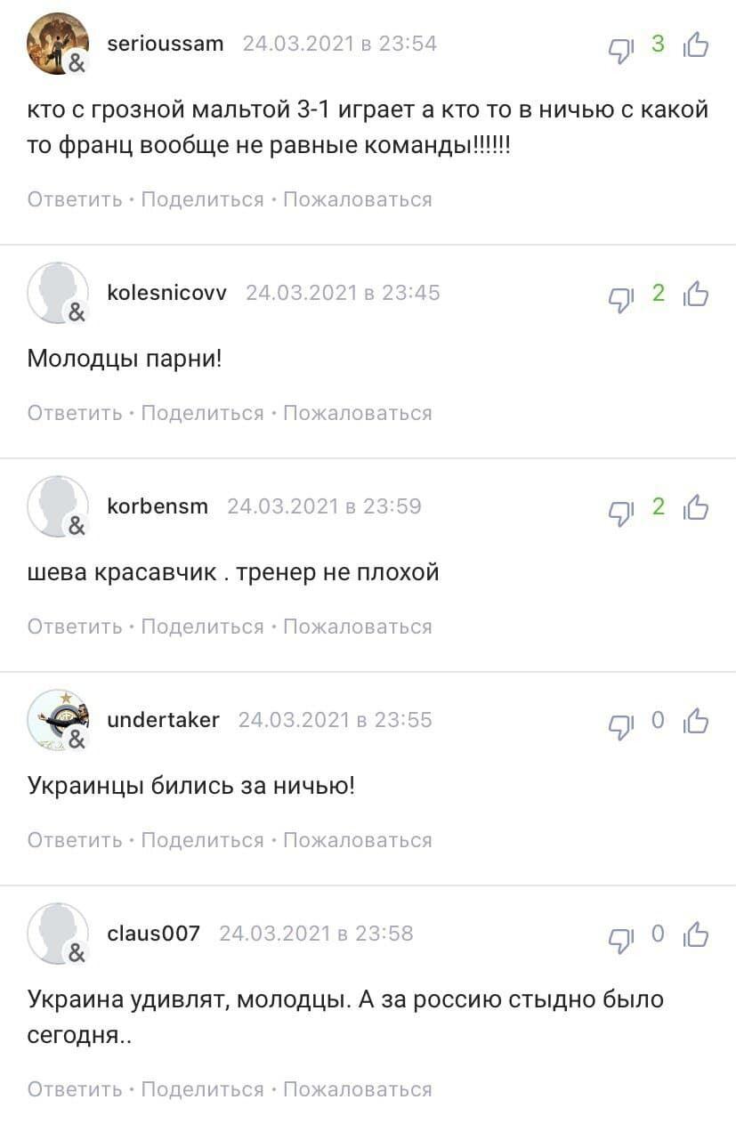 Збірна України билася до кінця
