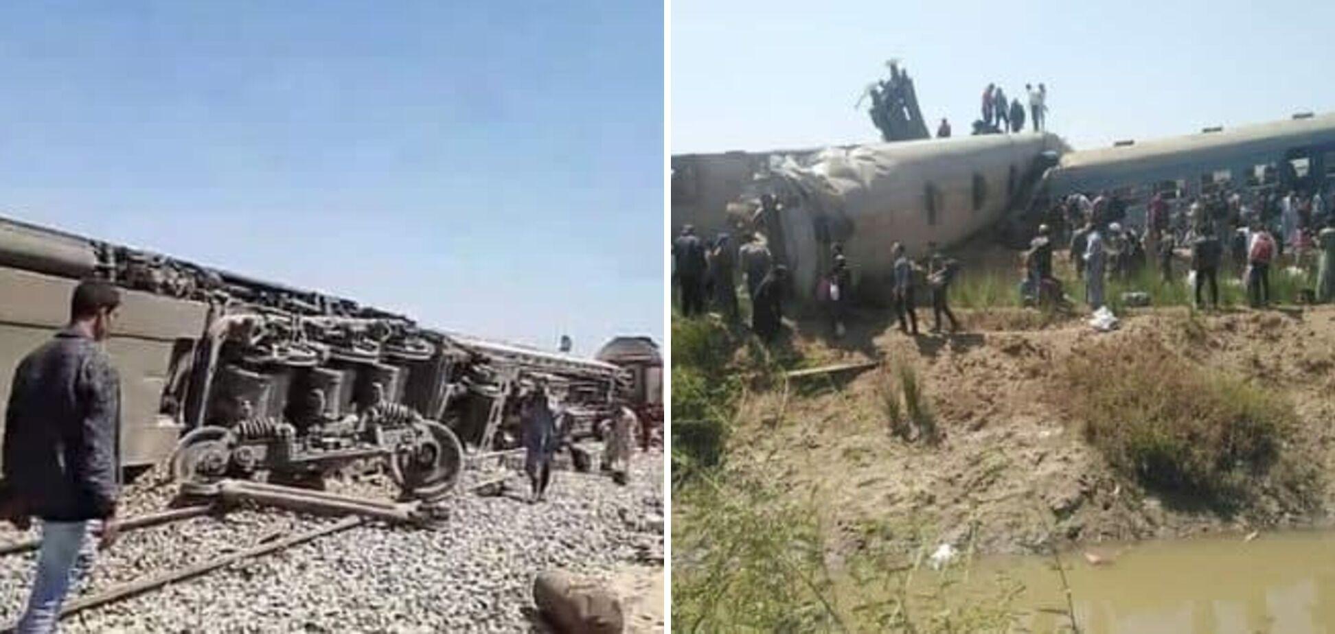 Аварія потягів у Єгипті