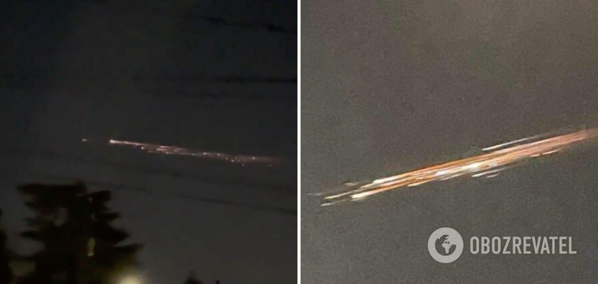 """Американці побачили """"містичні вогні"""" у небі: вони виявилися уламками ракети SpaceX. Фото"""