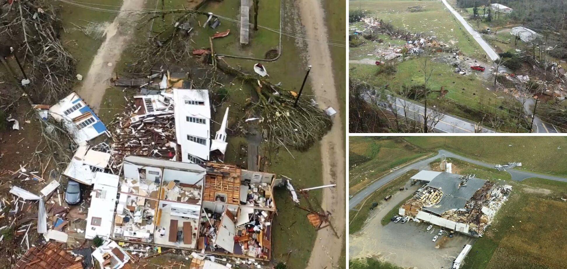 Последствия стихии в Алабаме