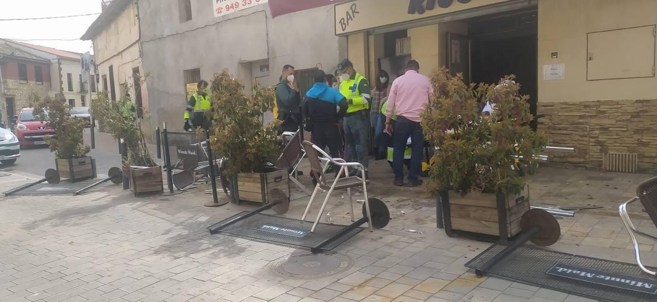 Мужчина в Испании наехал на прохожих.