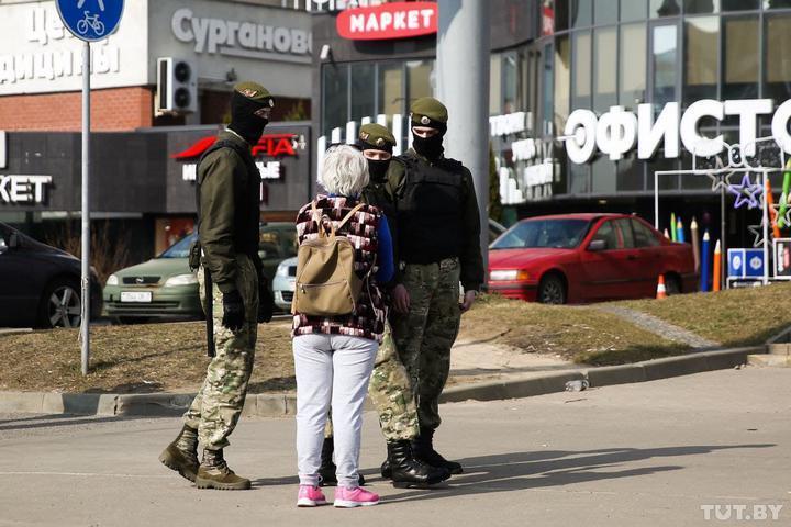 Силовики в Минске 27 марта.