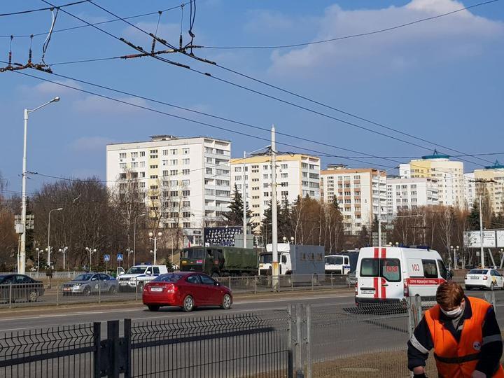Спецтехника силовиков в Минске.