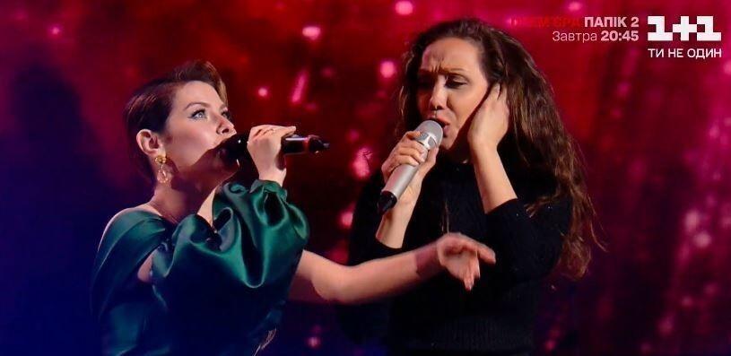 Євгенія Власова заспівала з учасницею на шоу