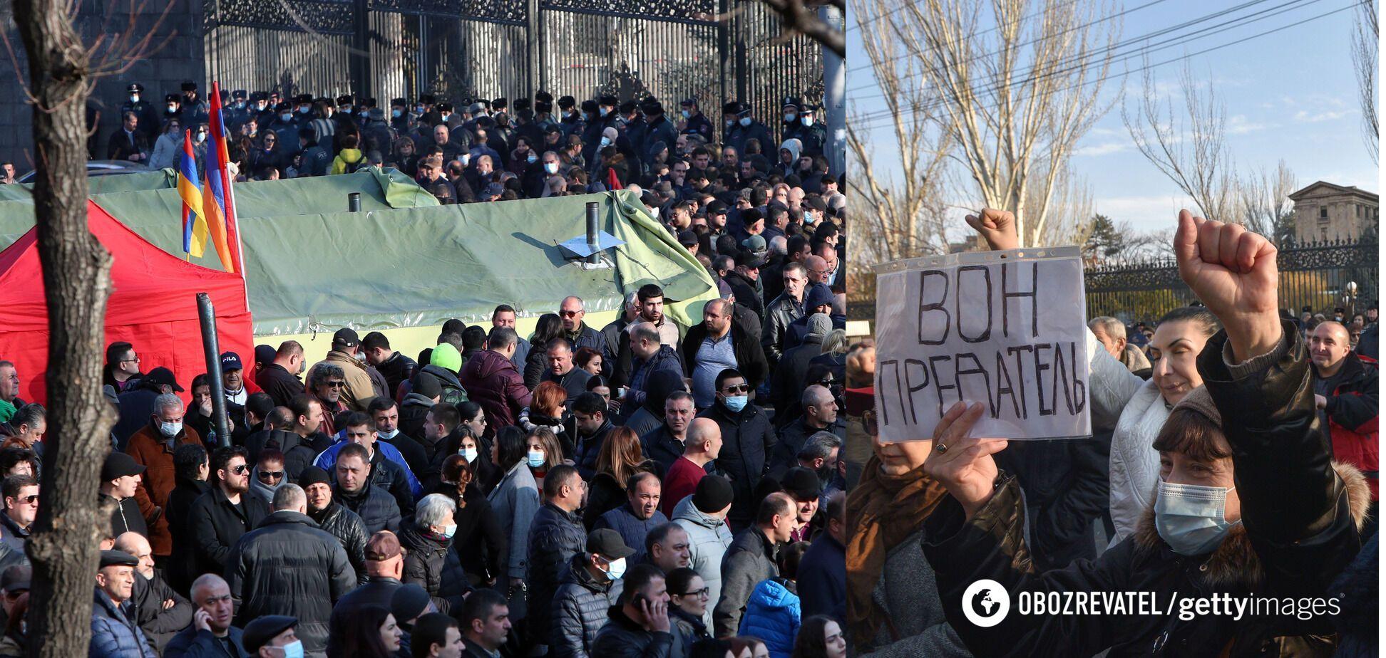 Протесты против правительства Пашиняна