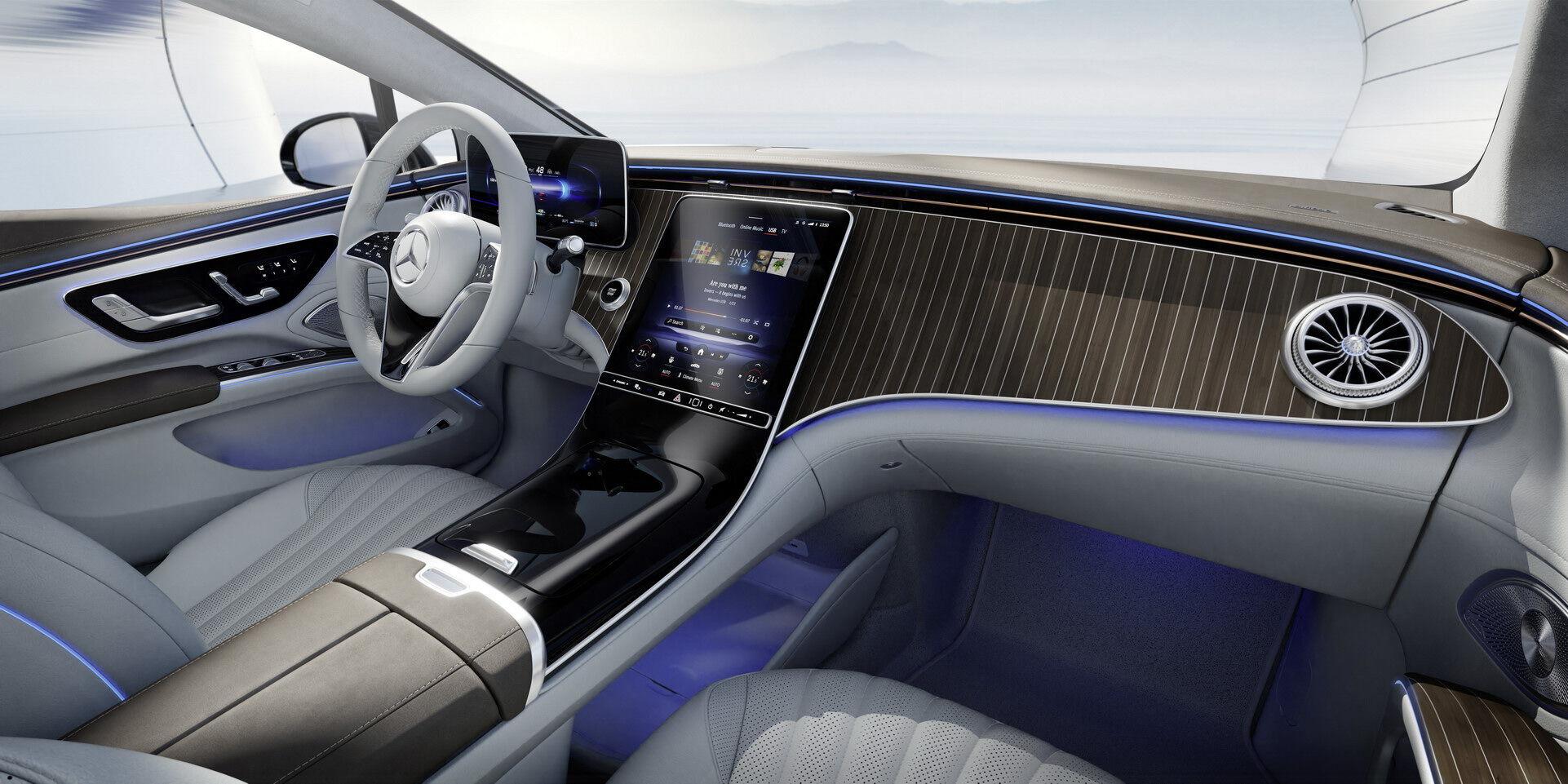 Mercedes-Benz EQS без Hyperscreen