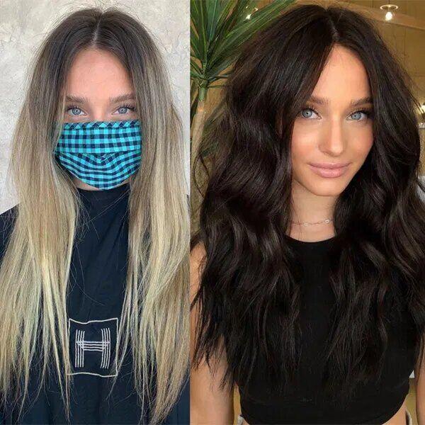 Девушка рассталась со светлым цветом волос.