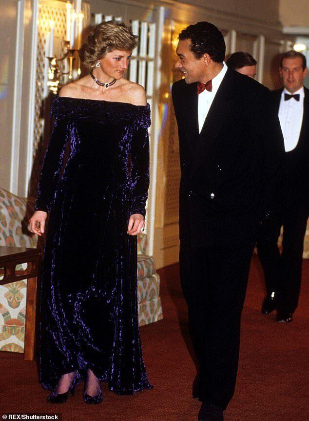 Брюс Олдфилд c принцессой Дианой в 1988 году.