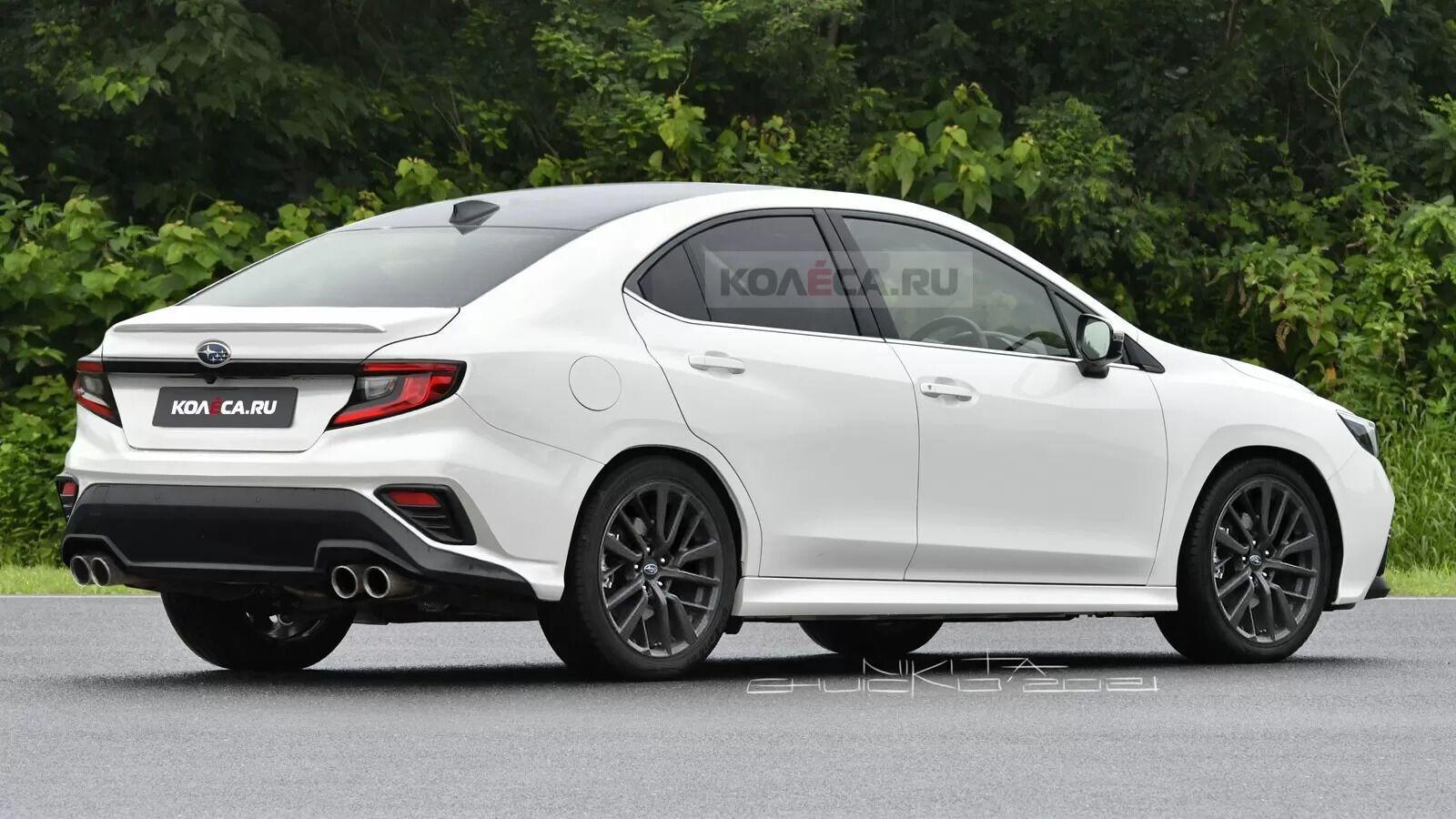 Возможный вид нового Subaru WRX