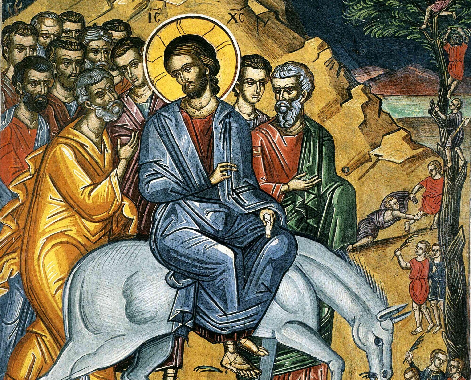 Вход Господень в Иерусалим отмечается в шестое воскресенье Великого поста