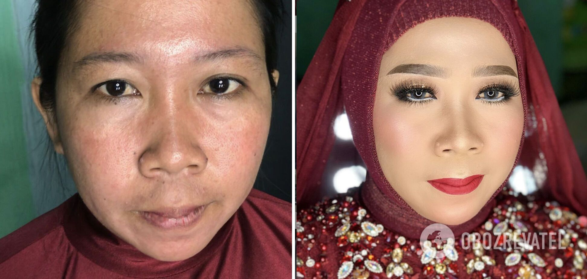 Майбутня наречена не впізнала себе після макіяжу
