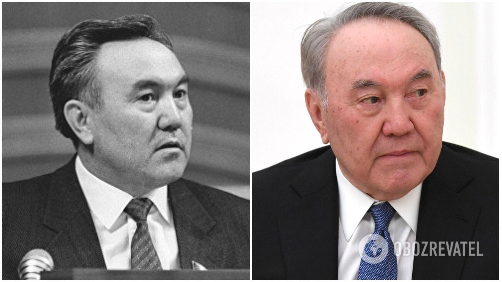 Нурсултан Назарбаев в 1990 году и сейчас