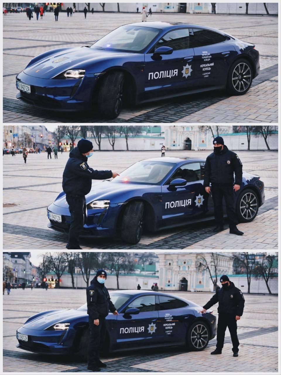 Правоохранители уточнили, что Porsche Taycan снимали в кино.