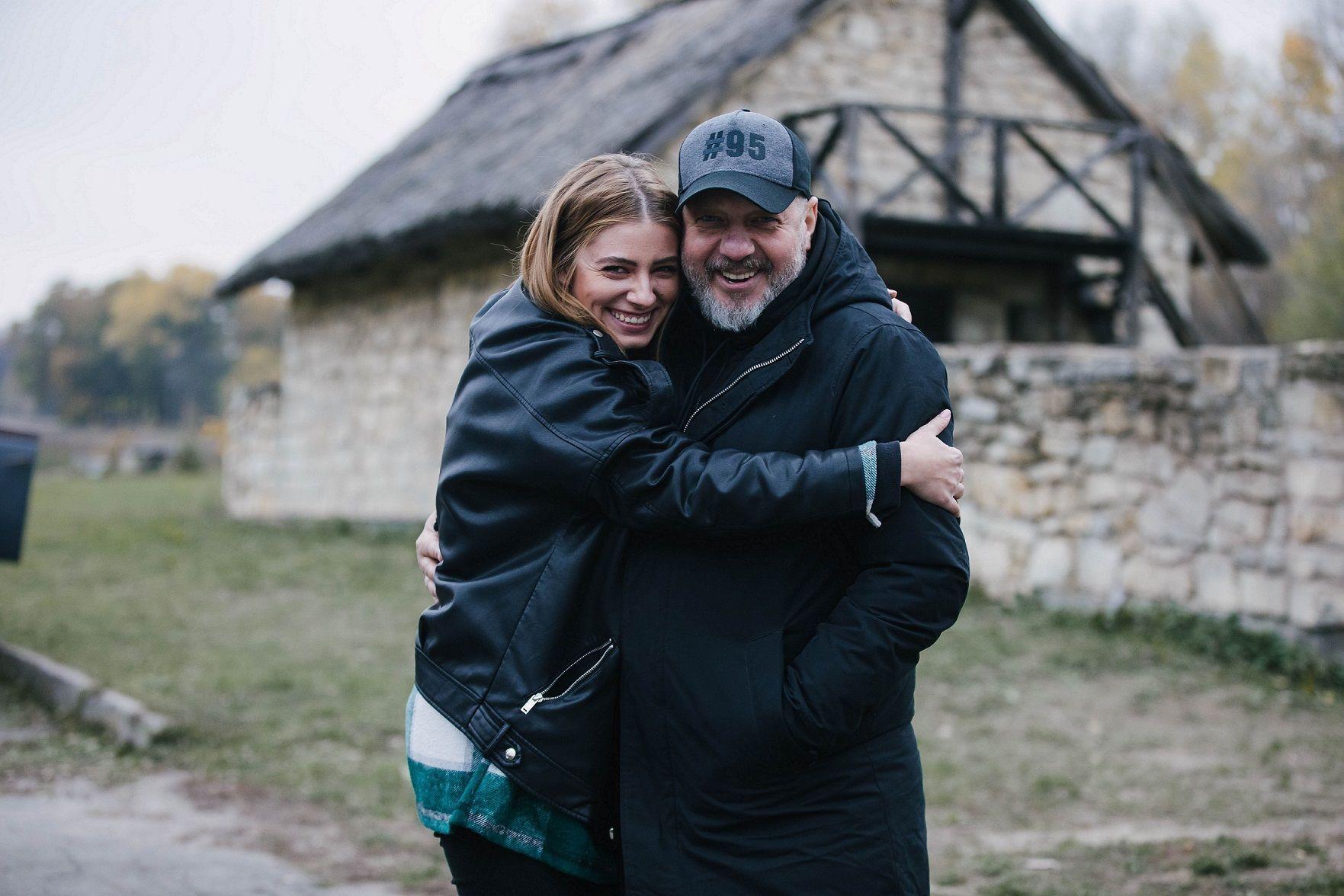 Андрей Яковлев и Дарья Петрожицкая на сьемках сериала.