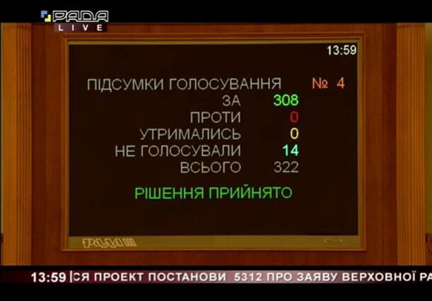 У Раді ухвалили постанову щодо загострення ситуації на Донбасі та звернулися до РФ