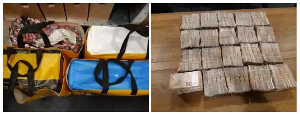 Гроші українець помістив у сумки