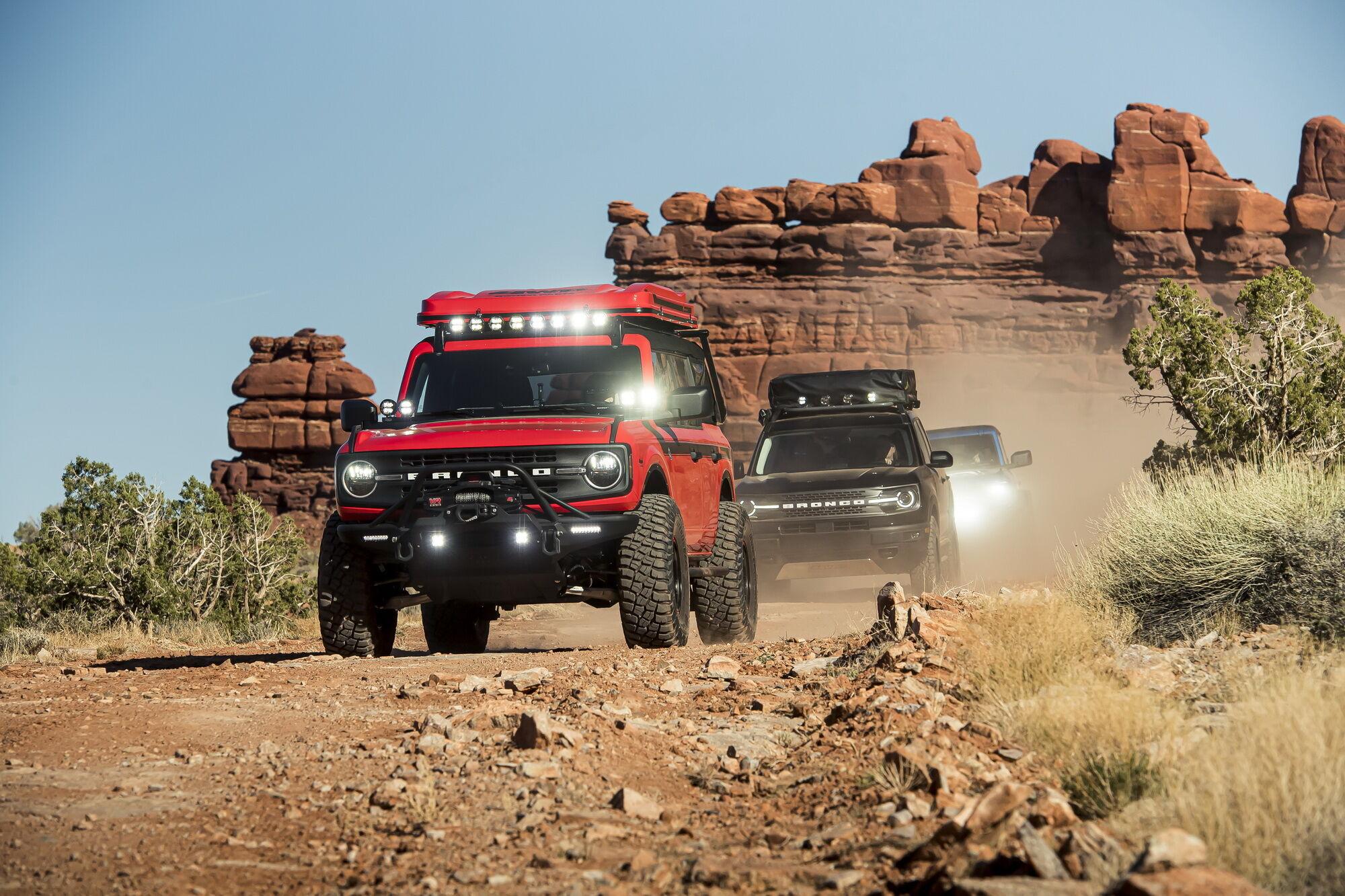 Випробувальний пробіг позашляховиків Ford Bronco
