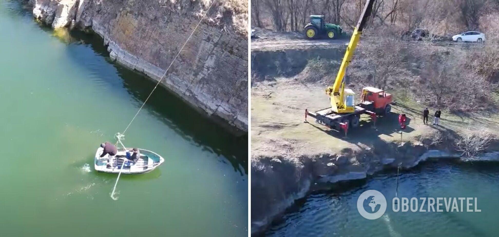 ВАЗ-2115 виявили на глибині 20 метрів у кар'єрі