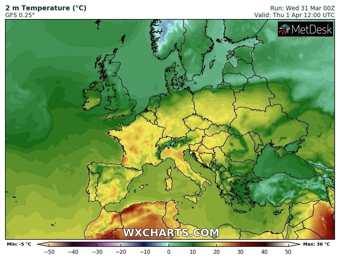 1 квітня в Україні потепліє до +20 градусів
