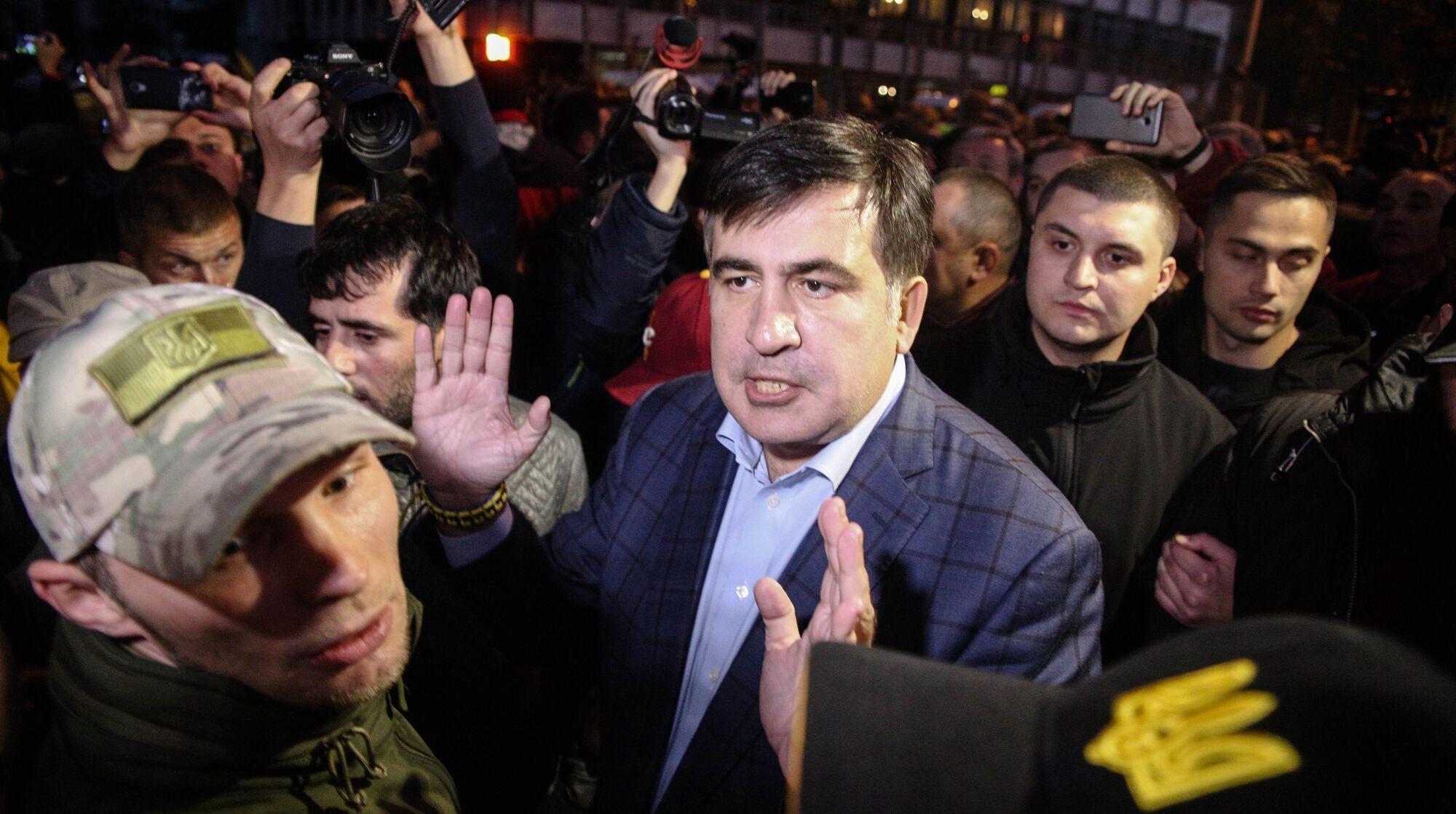 Политическое движение Михаила Саакашвили блокировало протестами улицу Грушевского несколько месяцев