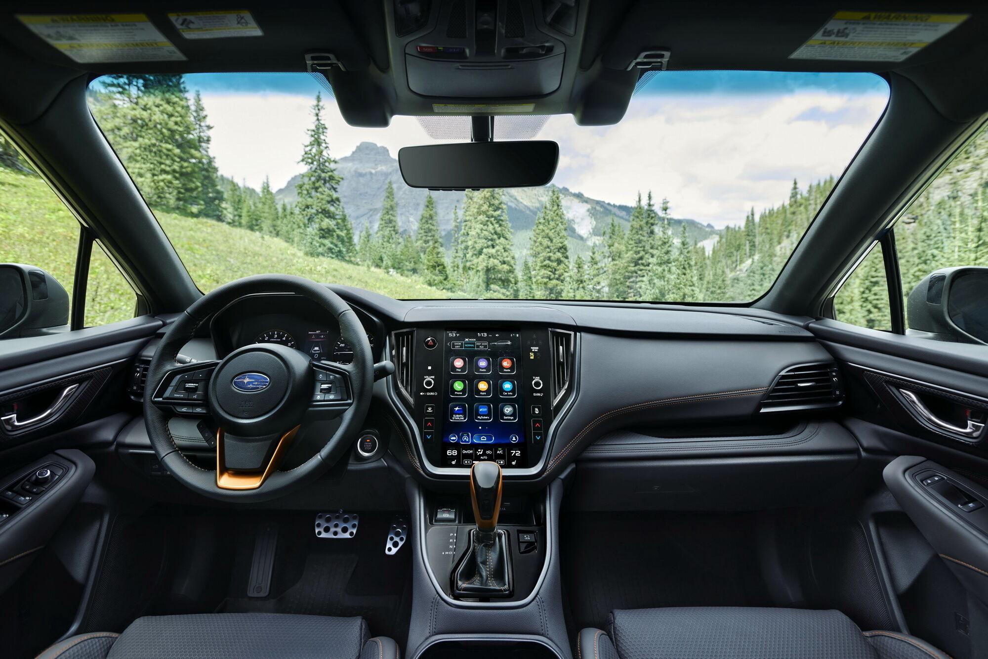 Центральне місце на торпеді посідає 11,6-дюймовий дисплей інформаційно-розважальної системи Subaru Starlink