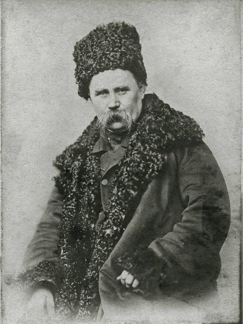 Тарас Григорьевич Шевченко в апреле 1858 года.