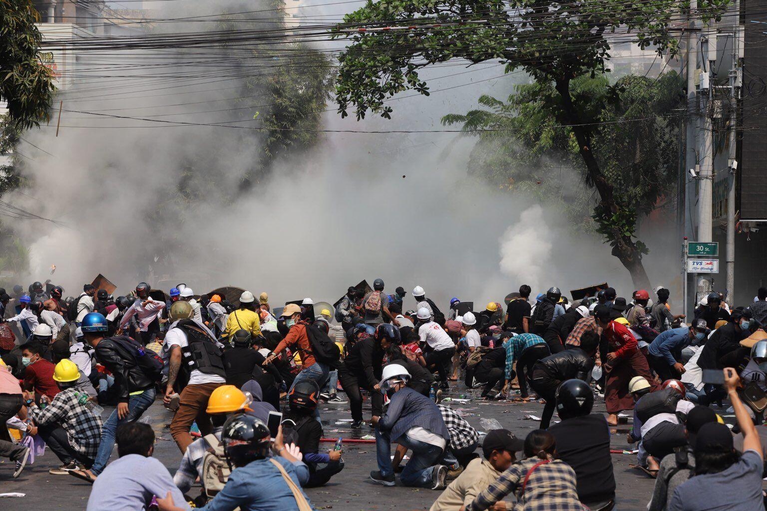 Протест в Мьянме