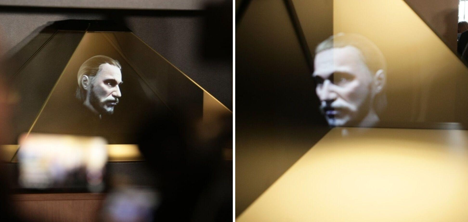 3D-голограмма лица Ярослава Мудрого