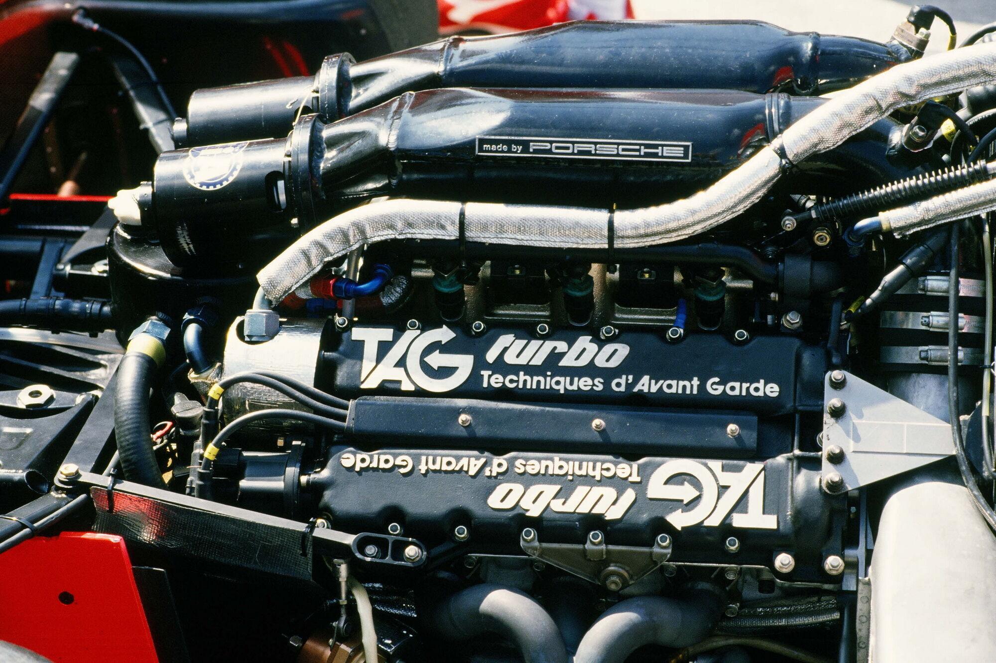 Мотор Porsche на боліді McLaren-TAG MP4 для формульного сезону 1984 року.