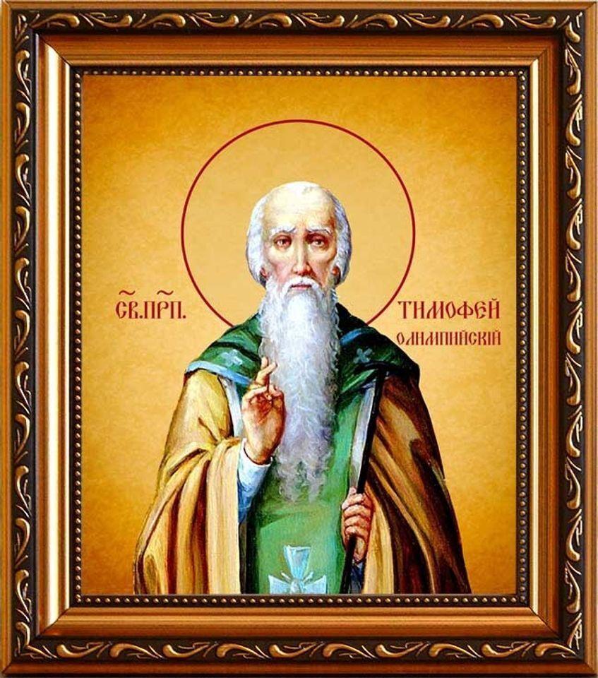 """Преподобний Тимофій жив у пустелях, за це його прозвали """"пустельником""""."""