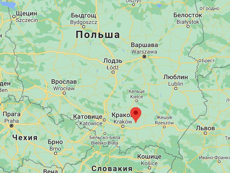 Місто Кашице в Польщі, де відбулася ДТП.