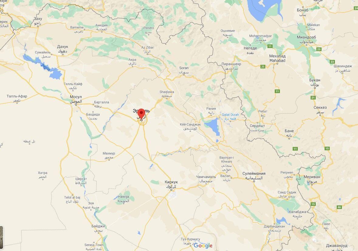 Меса проходила на стадіоні іракського міста Ербіль.