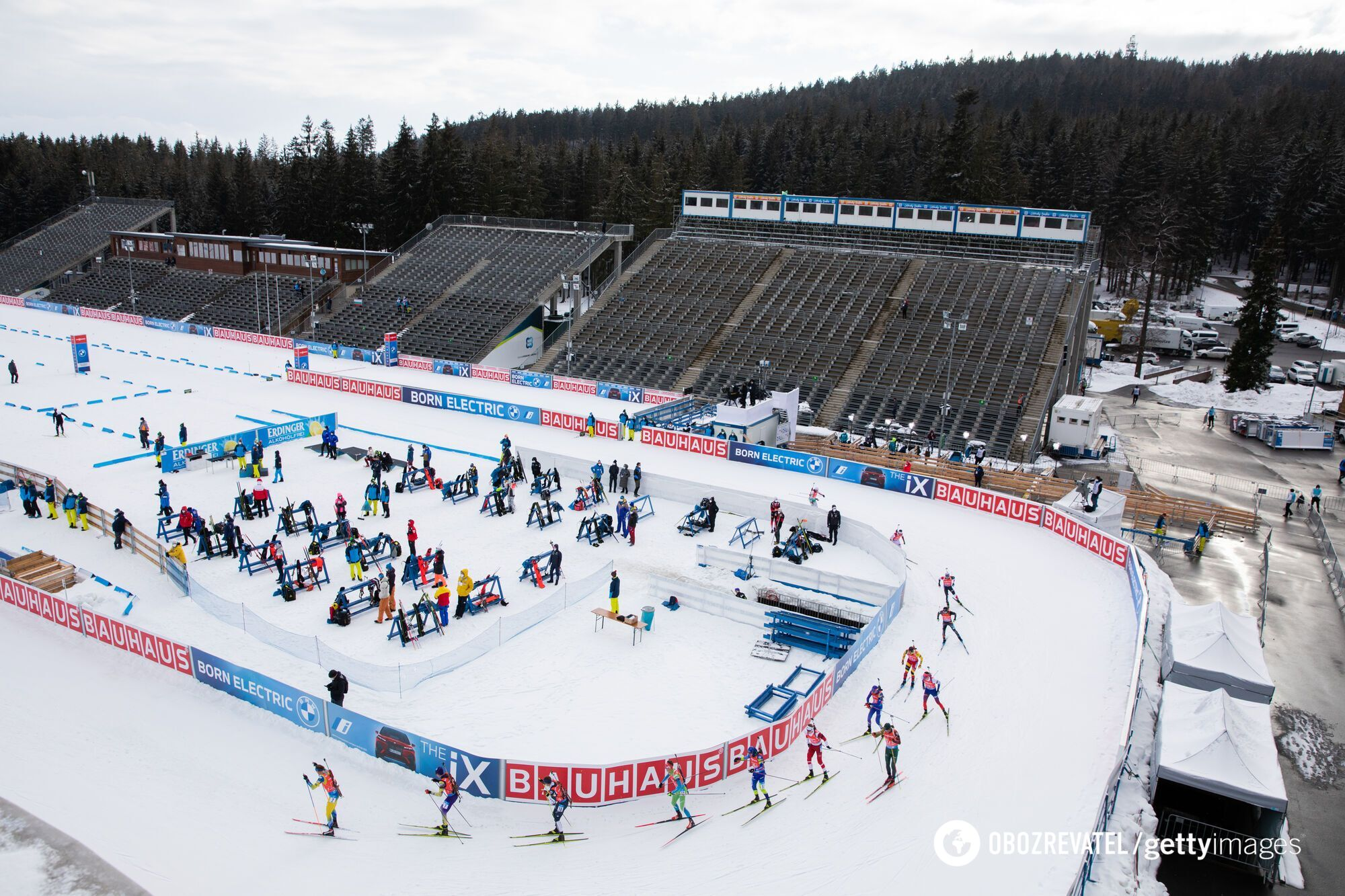 Биатлонный стадион в Чехии