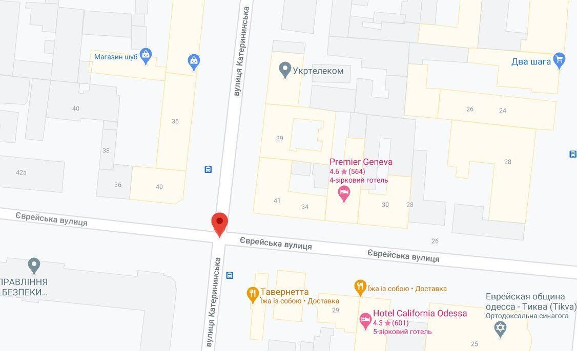 Інцидент трапився на вулиці Катериненській
