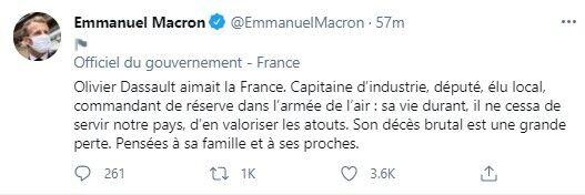 Макрон висловив співчуття сім'ям загиблих