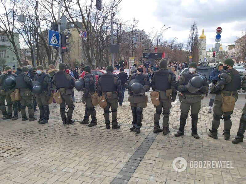 Охрана порядка на марше