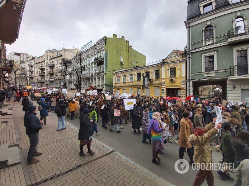 Участники Марша женщин