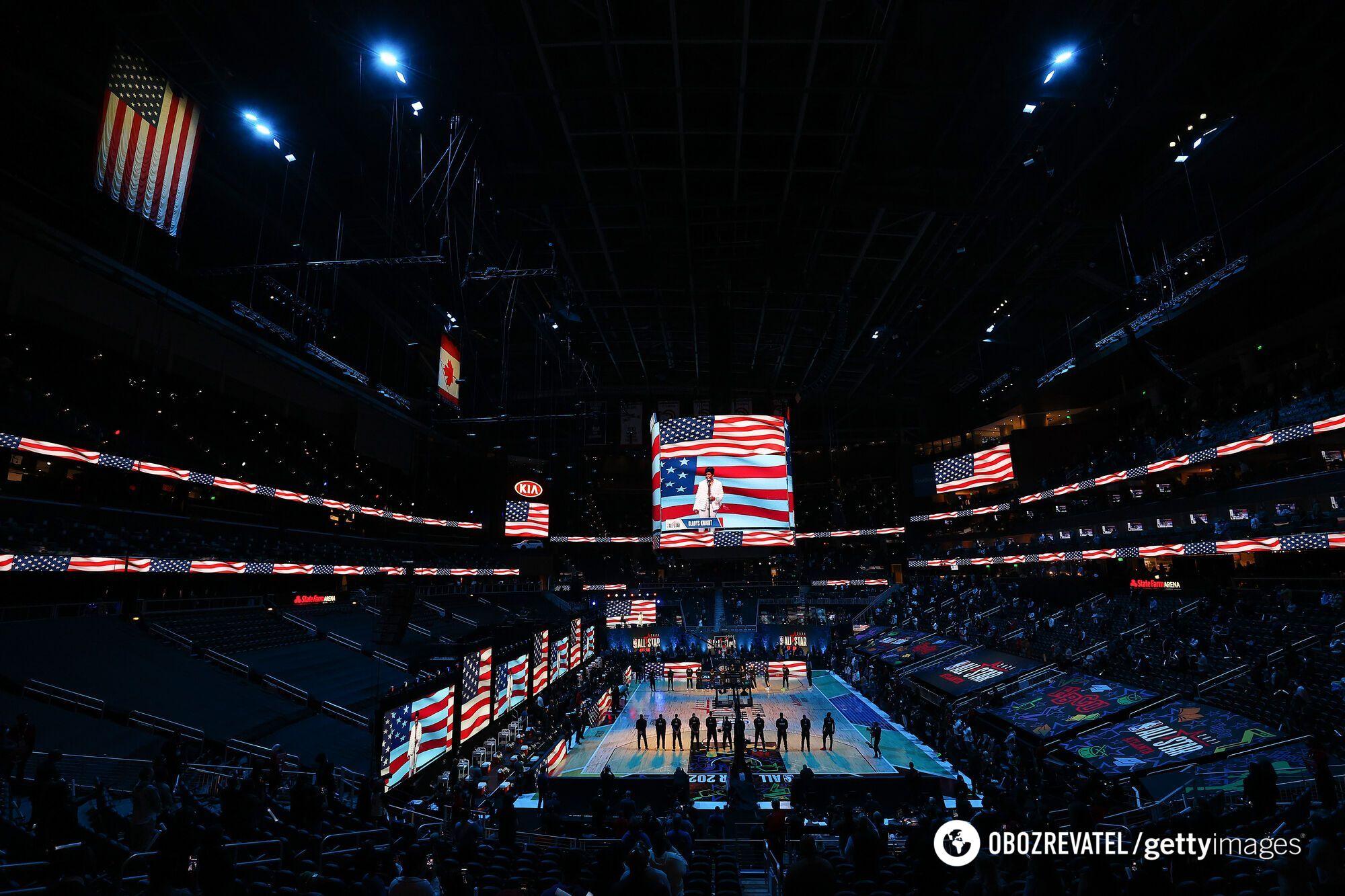 Атмосфера на арене перед матчем