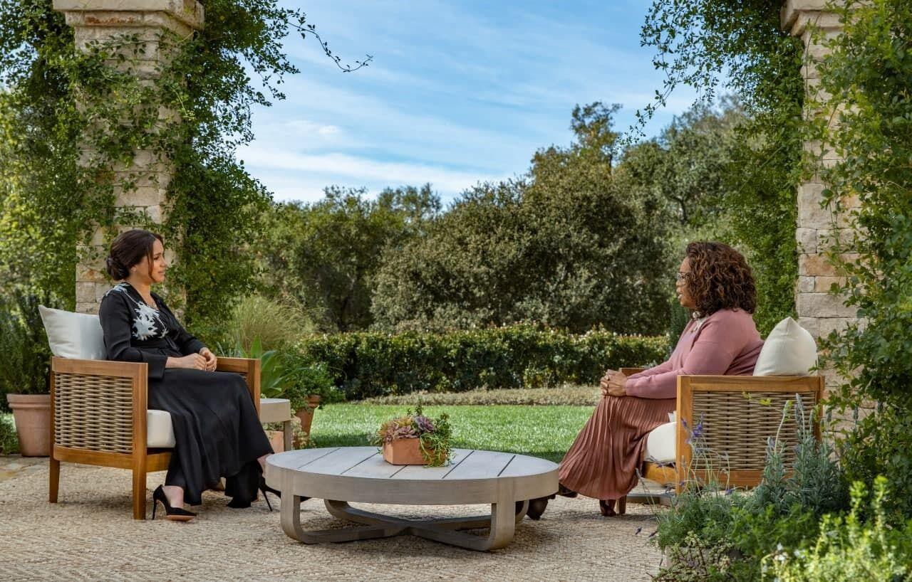 Меган Маркл и принц Гарри на интервью Опры