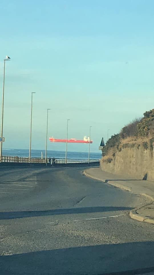 Похожая оптическая иллюзия, которую заметили в Шотландии